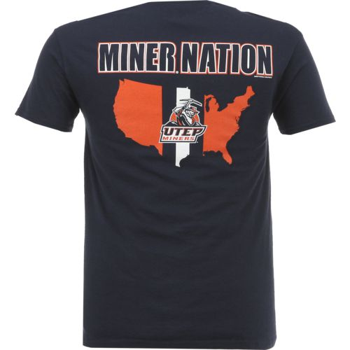 New World Graphics Men's University of Texas at El Paso Stripe Nation T-shirt - view number 1