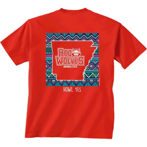 New World Graphics Women's Arkansas State University Terrain State T-shirt