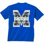 New World Graphics Women's University of Memphis Logo Aztec T-shirt - view number 1