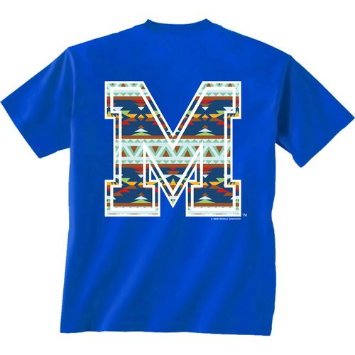 New World Graphics Women's University of Memphis Logo Aztec T-shirt