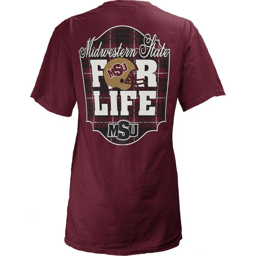 Three Squared Juniors' Midwestern State University Team For Life Short Sleeve V-neck T-shirt