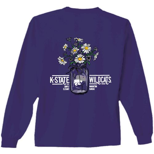 New World Graphics Women's Kansas State University Bouquet Long Sleeve T-shirt