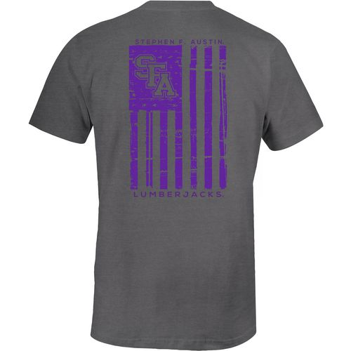 Image One Men's Stephen F. Austin State University Distressed Flag T-shirt