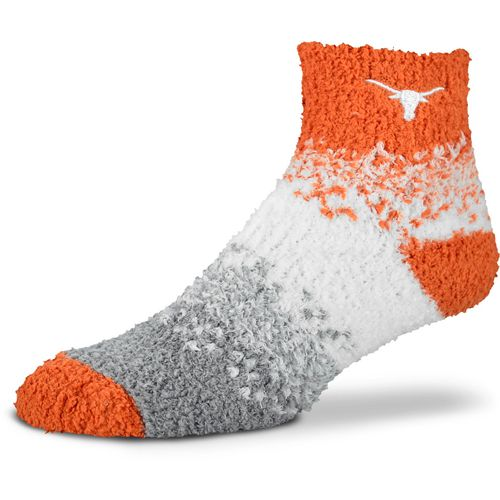 For Bare Feet Women's University of Texas Marquee Sleep Soft  Quarter Socks