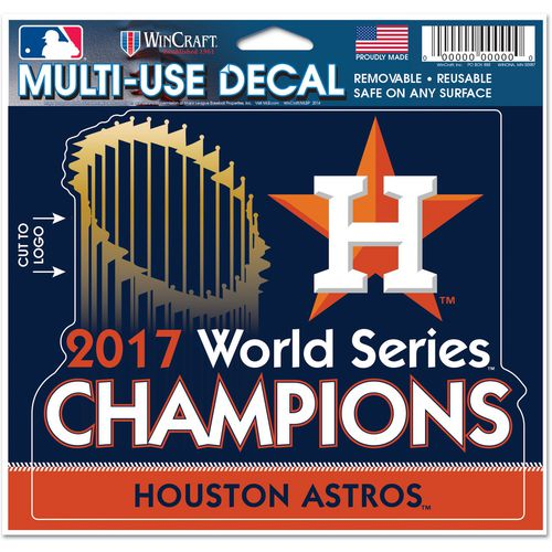 WinCraft Astros World Series Champs Multi-Use 4.5 x 6 Decal