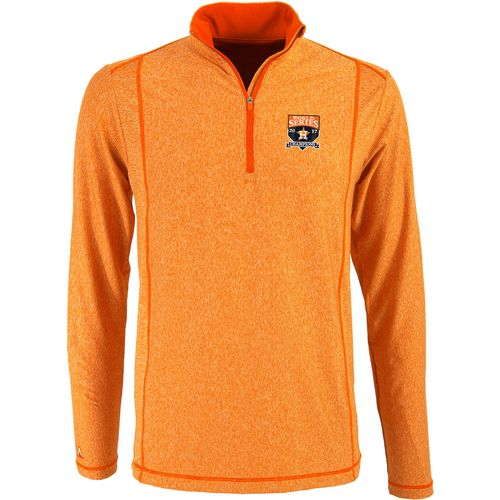 Antigua Men's Astros World Series Tempo 1/4 Zip Shirt