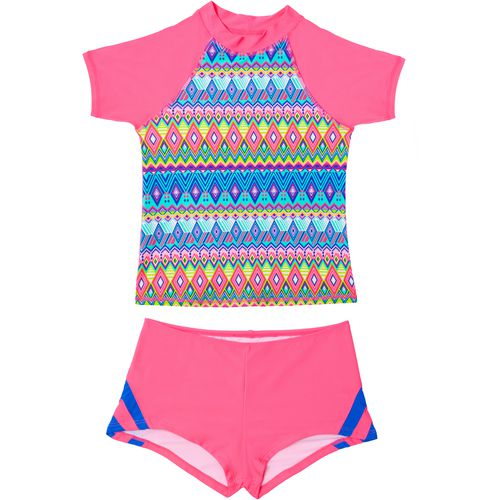 O'Rageous Girls' Deco Line 2-Piece Rash Guard Set