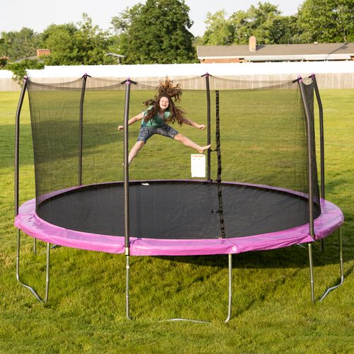 Skywalker 15 Trampoline With Safety Enclosure Reviews: Skywalker Trampolines 15 Ft Round Trampoline With