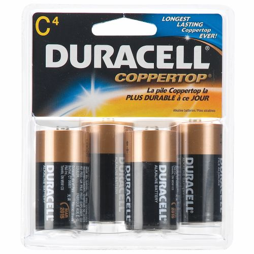 Duracell Coppertop C Batteries 4-Pack