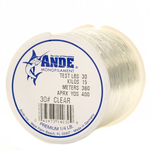 Ande premium 30 lb 400 yards monofilament fishing line for 30 lb fishing line