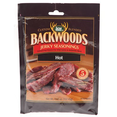 Display product reviews for LEM Backwoods Hot Jerky Seasoning