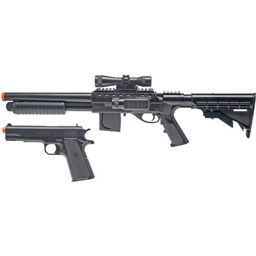 Smith & Wesson L.E. Tactical On-Duty Airsoft Shotgun and Pistol Kit