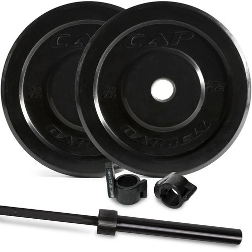 CAP Barbell Bumper Plates and Power Bar Set