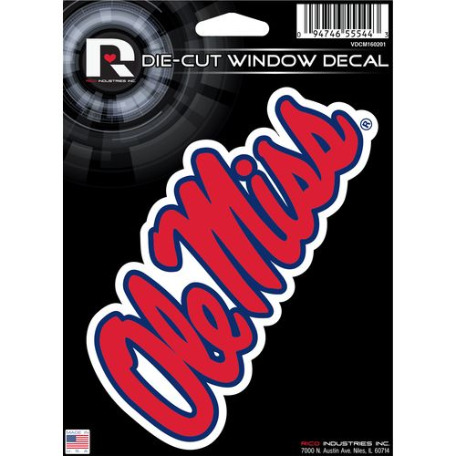 Display product reviews for Tag Express University of Mississippi Die-Cut Decal