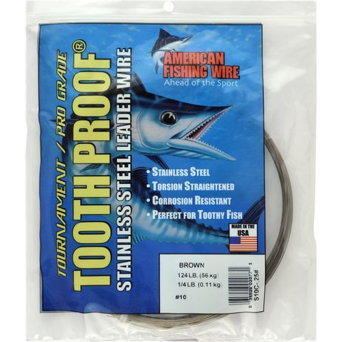 American Fishing Wire Tooth Proof 174 lb. - 30' Single-Strand Leader Wire