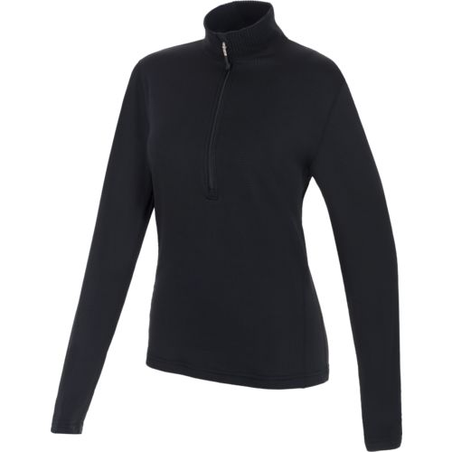 Magellan Outdoors Women's Thermal Grid Fleece 1/4 Zip Heavyweight Baselayer Shirt