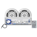 Dual MCP103 240W Mechless Marine Receiver with Speakers