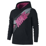 Nike Girls' Brushed Fleece Over-the-Head Graphic Hoodie
