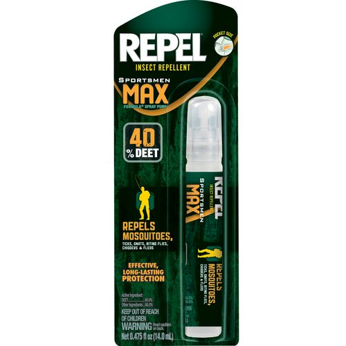 Display product reviews for Repel Sportsman Max Formula Insect Repellent Pen-Size Pump Spray