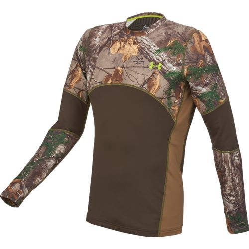 Under Armour™ Men's ColdGear® Infrared Scent Control Tevo Camo Crew Shirt