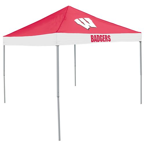 Logo™ University of Wisconsin Straight-Leg 9' x 9' Economy Tent