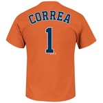 Majestic Men's Houston Astros Carlos Correa #1 Short Sleeve T-shirt
