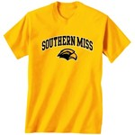 New World Graphics Men's University of Southern Mississippi Arch Mascot T-shirt