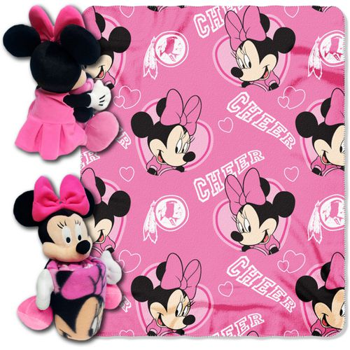 The Northwest Company Washington Redskins Minnie Mouse Hugger and Fleece Throw Set - view number 1