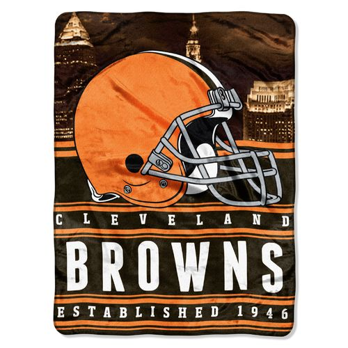 The Northwest Company Cleveland Browns Stacked Silk Touch Throw