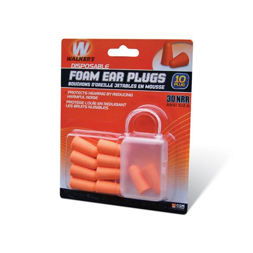 Walker's Disposable Foam Ear Plugs 5-Pack