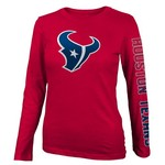 NFL Girls' Houston Texans Hourglass Long Sleeve T-shirt
