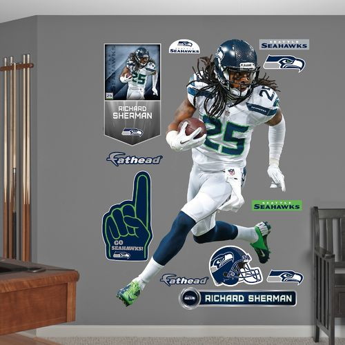 Fathead Seattle Seahawks Richard Sherman #25 Real Big Wall Decal
