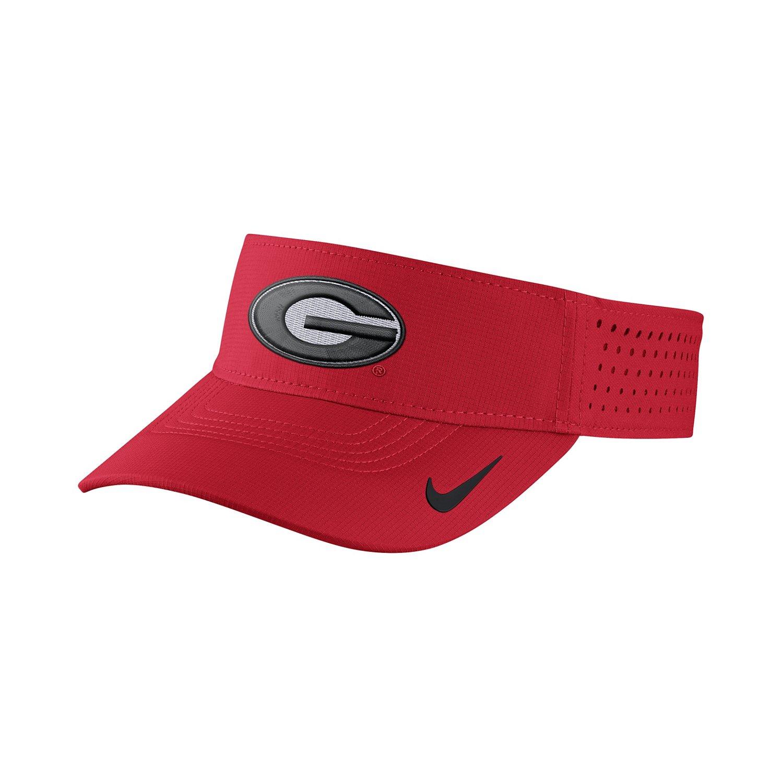 Nike Men's University of Georgia Vapor Adjustable Visor