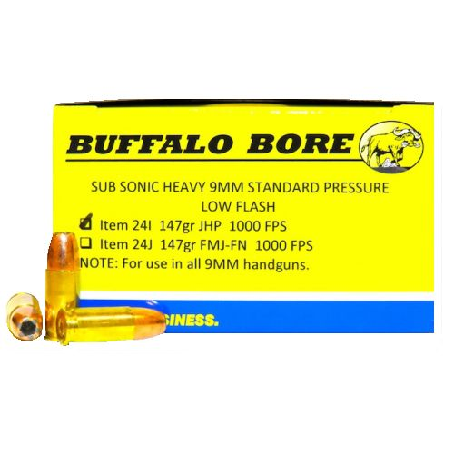Display product reviews for Buffalo Bore Subsonic Heavy Standard Pressure 9mm 147-Grain Centerfire Handgun Ammunition