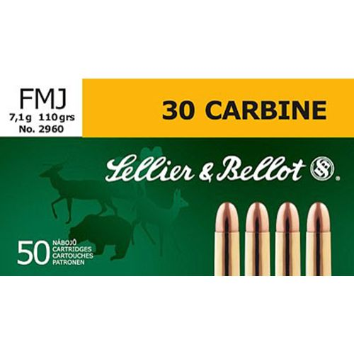 Sellier & Bellot .30 Carbine 110-Grain Full Metal