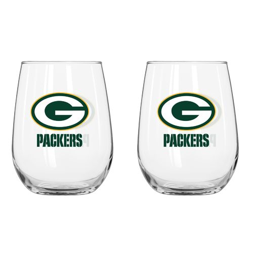 Boelter Brands Green Bay Packers 16 oz. Curved Beverage Glasses 2-Pack - view number 1