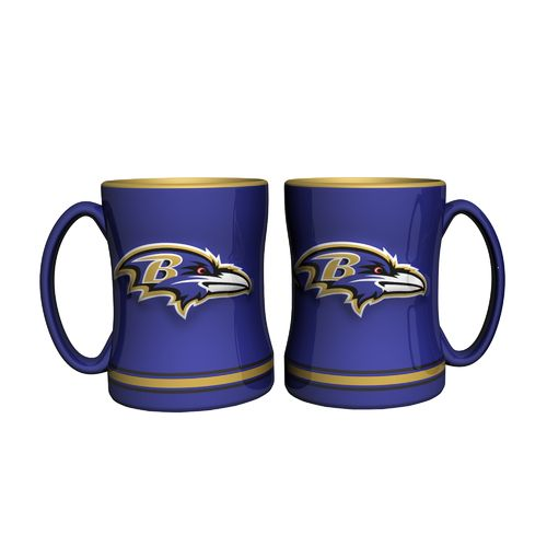 Boelter Brands Baltimore Ravens 14 oz. Relief Mugs 2-Pack