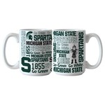 Boelter Brands Michigan State University Spirit 15 oz. Coffee Mugs 2-Pack
