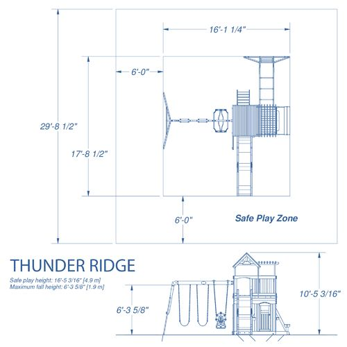 Backyard Discovery™ Thunder Ridge Wooden Swing Set - view number 7