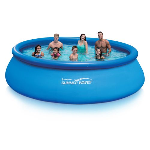 Summer waves 15 39 x 42 quick set round pool with rx1000 - Summer waves pool ...