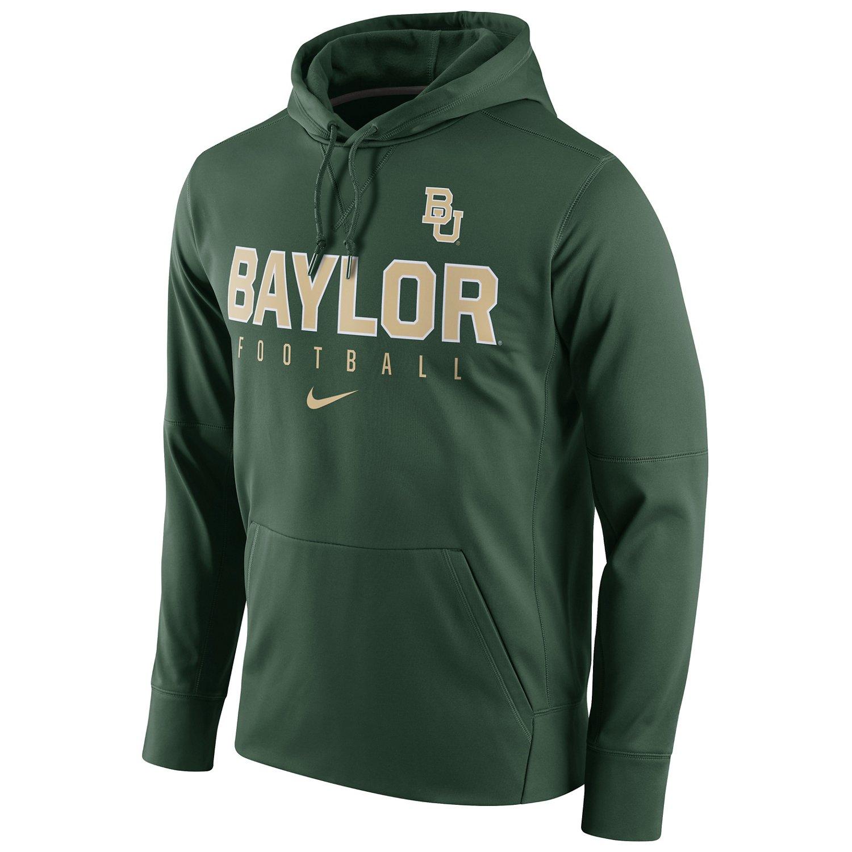 Nike Men's Baylor University Circuit Perf Pullover Hoodie