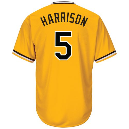 Majestic Men's Pittsburgh Pirates Josh Harrison #5 Cool Base Replica Jersey - view number 1