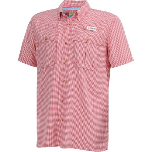 Magellan Outdoors Men's Aransas Pass Short Sleeve Gingham Fishing Shirt - view number 3