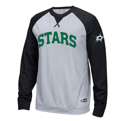 Reebok Men's Dallas Stars Long Sleeve Raglan Crew