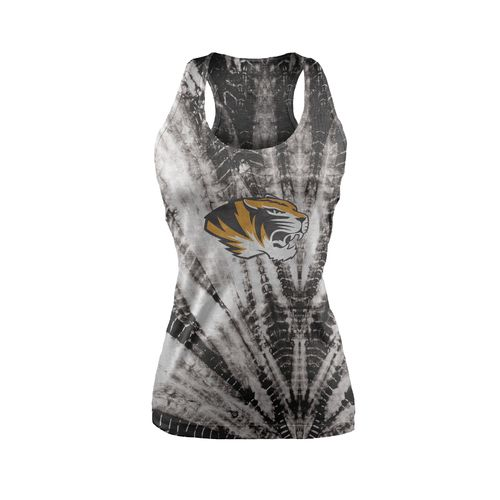 Chicka-d Women's University of Missouri Tie Dye Racerback Tank Top