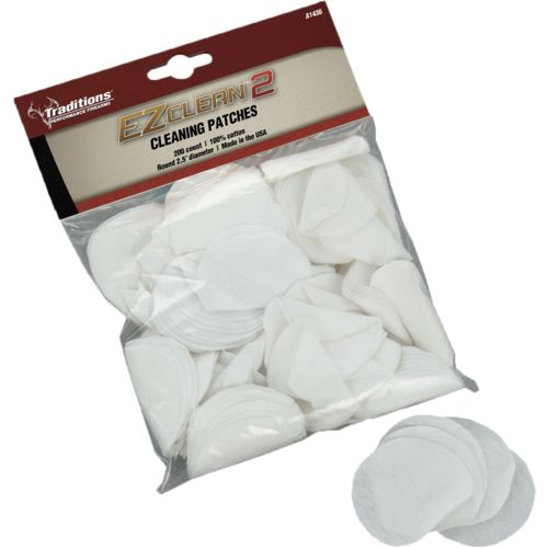 Traditions EZ Clean 2 .45 - .54 Caliber Cleaning Patches 200-Pack