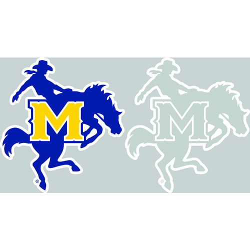 "Stockdale McNeese State University 4"" x 7"" Decals 2-Pack"