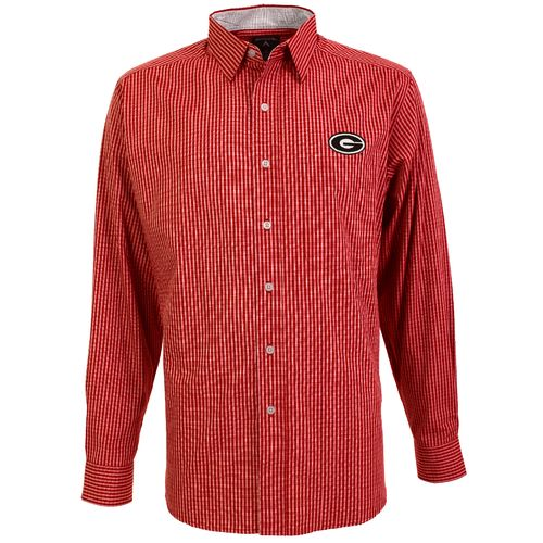 Antigua Men's University of Georgia Division Dress Shirt