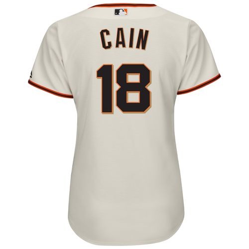 Majestic Women's San Francisco Giants Matt Cain #18 Authentic Cool Base Jersey - view number 1