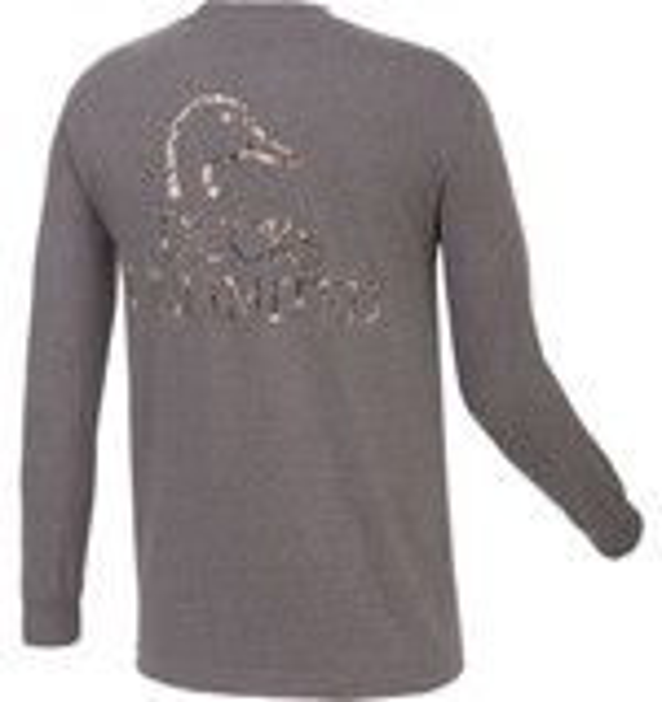 Ducks Unlimited™ Men's Camo Duck Head Long Sleeve T-shirt